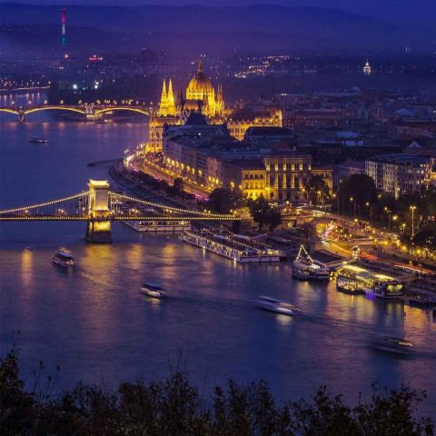 Budapest Night Air Cruise by Plane